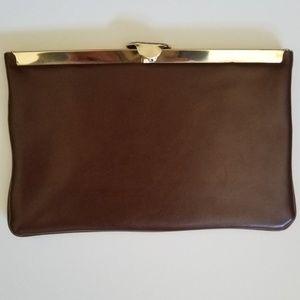 HARRY LEVINE Vintage Brown Faux Leather Purse